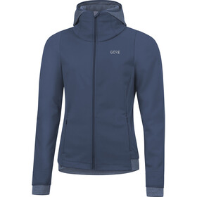 GORE WEAR R3 Windstopper Thermo Hoodie Damen deep water blue
